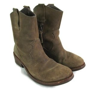 Bussola Brown Suede Leather Western Style Boot